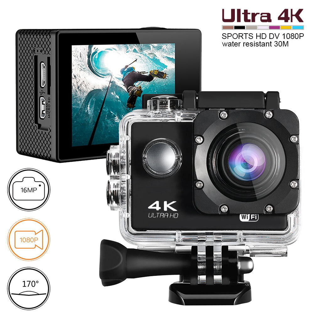 Ultra 4K WiFi Motorcycle Mount Action 1080p HD 16MP Camera Video Cam Recorder Featured