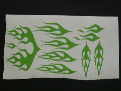 Arctic cat Green Flame Snowmobile Helmet Graphic Decal Decals Graphics Stickers