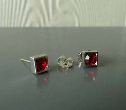 CZ Stud earrings with 316L surgical steel posts//catches NWT-6 9x colours