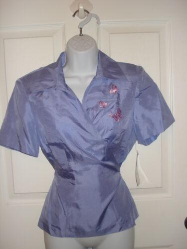Studio I Petite Purple Silk Blouse Top Women/'s Patites Size 10P NEW