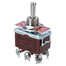 Momentary Heavy Duty Rocker Toggle Switch 6 Pin 3 Position On Off On Boot Cap