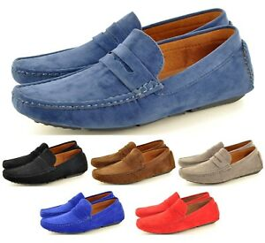 2da44d207ede3 New Mens Faux Suede Casual Loafers Moccasins Slip on Shoes Avail. UK ...