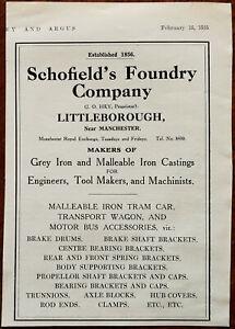 Schofield-s-Foundry-Company-Littleborough-Vintage-Advertisement-1935
