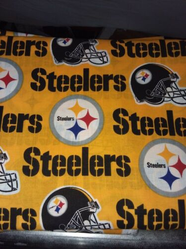 YELLOW  BACK GROUND WELDING CAP MADE WITH  STEELERS WITH FABRIC