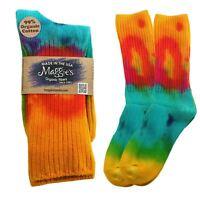 Maggie's Organic Socks Cotton Crew Tie Dye Made In Usa Fair Trade