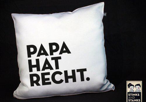 Vatertag Papa hat Recht Kissen