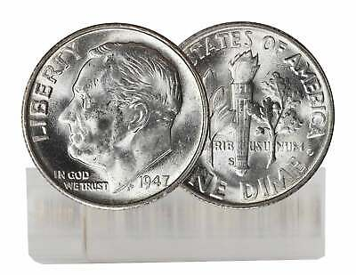 1947S Choice BU Roosevelt Dime from an original roll MS Uncirculated Free Ship