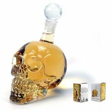 1000ML Crystal Skull Head Whiskey Shot Home Creative Bar Glass Bottle Decanter