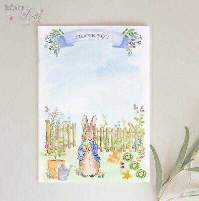 Peter Rabbit THANK YOU CARDS postcard NOTELETS Pack of 8 BABY BOY