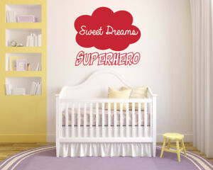 Camera Da Bambino : Sweet dreams superhero wall art sticker mural decal. bedroom