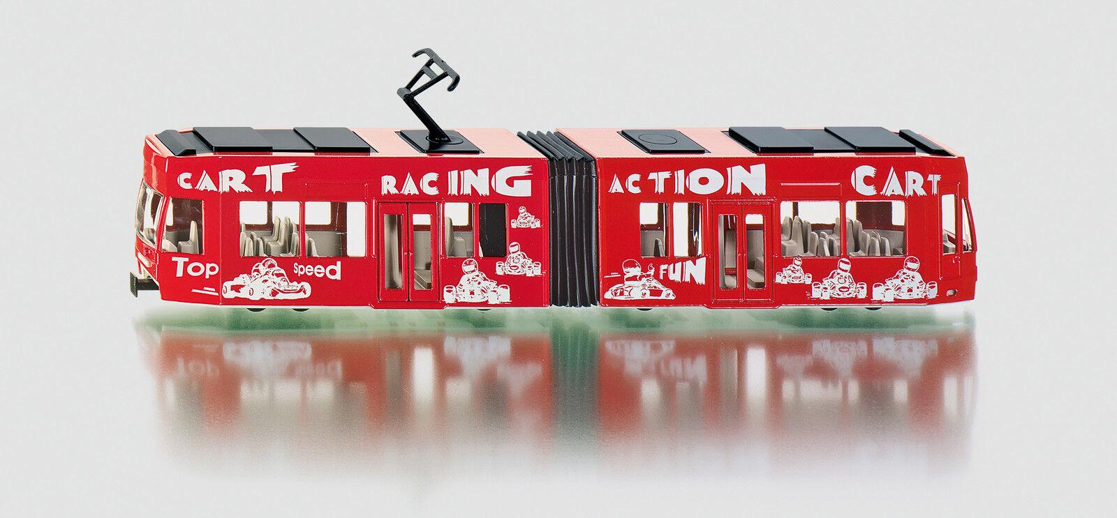 SIKU 1 55 MODELLO DIE CAST TRAM RACING ACTION CART rouge TRAMWAY ART 3726