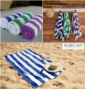 Luxury-100-Cotton-Beach-Towels-Swimming-Pool-Towel-Stripe-Soft-Large-Bath-Sheet