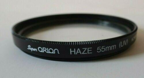 Genuine SUPER Orion 55mm UV HAZE A VITE-nel filtro per 55mm nuovo con confezione UK stock