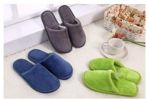 Anti-Rutsch Soft Warm Plüsch Hausschuhe  Sandal Indoor Schuhe Unifarbe Pantoffel