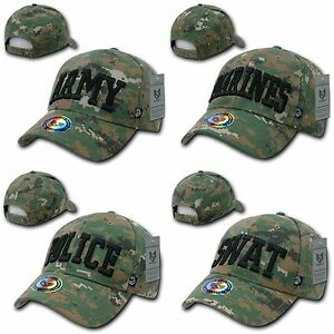 93c47cf2095 1 Dozen Army Marines Police Swat Camouflage Military Law Caps Hats ...