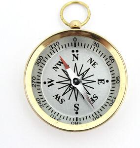 Brass Pocket Compass – Brass Compass –Camping & Hiking Compass