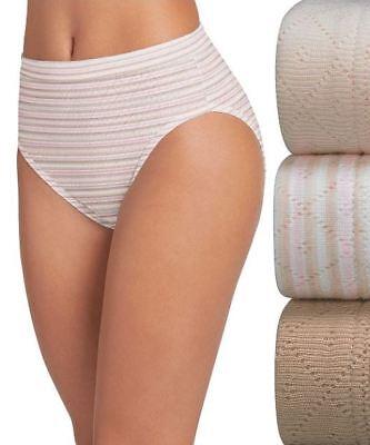 Jockey Elance Breathe 3-Pack 100/% Cotton French Cut Panties Silver Fox Assorted
