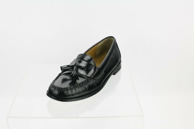 e9d89d784ad Cole Haan Pinch Tassel Black Leather Loafer Slip-On Men s Shoes Size 10 D
