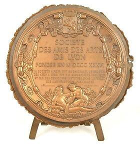 Medaglia-Societa-Degli-Amici-Arti-Della-Lione-1836-da-Dantzell-90mm-39g-Medal