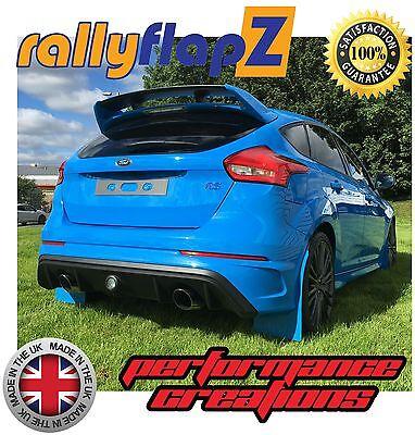 Mudflaps FORD FOCUS RS MK3 Mud Flaps rallyflapZ NITROUS BLUE /'KAYLAN/' PU set of4