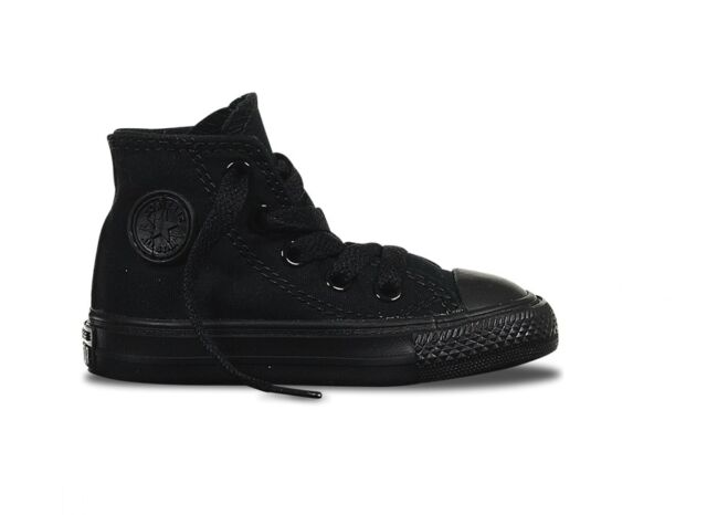 d368cd1dec25 Converse Infants Boys   Girls Chuck Taylor All Star Black Trainers Size 2  to 10 UK 9 Infant