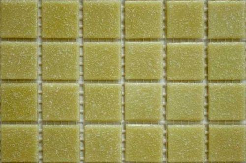 200-203 Matte Cream Vitreous Glass Mosaic 10mm Tiles A30