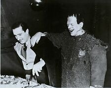 RARE STILL BORIS KARLOFF AS FRANKENSTEIN  ON SET BIRTHDAY CAKE