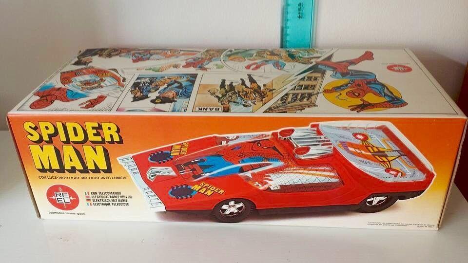 calidad de primera clase REEL SPIDER SPIDER SPIDER MAN FILOCOMANDATA MARVEL 1979  BELLISSIMA MAI RIMOSSA SPIDERMAN  grandes ahorros
