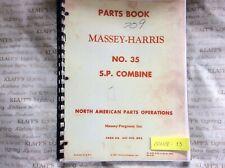 Massey Ferguson Harris Sp Combines No 35 Parts Manual Book