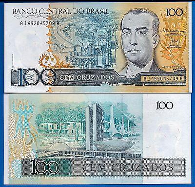 P 213b   Prefix A  Uncirculated BRAZIL  1000  CRUZADOS 1987 /& 1988