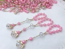 30 Recuerdos De Bautizo/baptism Party Favors/ Mini Rosaries/christening favors