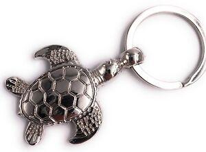 Tartaruga-Tortoise-Portachiavi-Ciondolo-in-Metallo