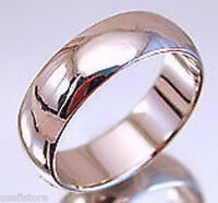 18kt White Gold Plated 6mm Wedding Band Ring