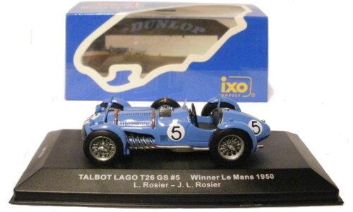 Ixo lm1950 TALBOT LAGO T26 GS N. 5 LE MANS WINNER 1950-roseo / roseo scala 1/43