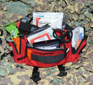 Advanced- Medium First Aid Kit (MFAK) Tactical Trauma Survival Bag - Stocked