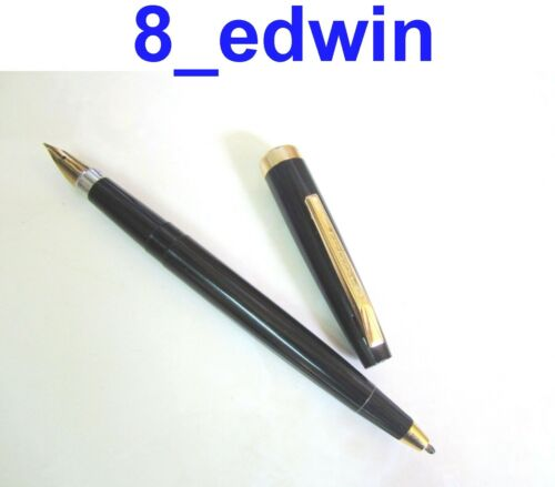 Collectable Vintage Black Double ended Fountain Pen