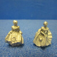 Dolls House Miniature Pair Of 'royal Doulton' Style Ladies Dh201
