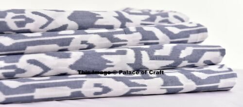 Indian Ikat Design Gray Fabric Cotton Craft Cloth By 1 Yard Dress Making Sewing