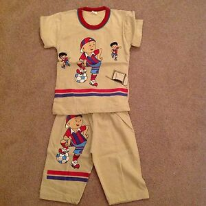 Boys-2-year-Green-Football-design-Play-Suit-New