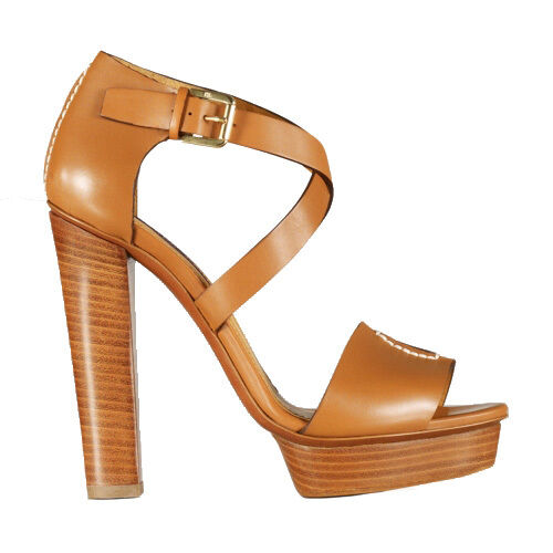 presa di marca Ralph Lauren Collection Collection Collection oro Calf Leather Sharie Platform Sandals New  795  80% di sconto