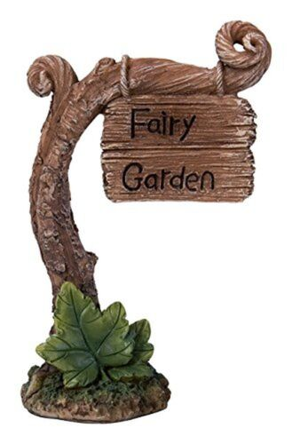 BRAND NEW LARGE FAIRY GARDEN SIGN GARDEN ORNAMENT FAIRIES//PIXIES