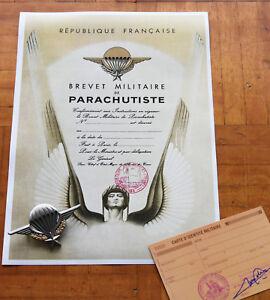 Springerabzeichen + Urkunde + Militärausweis Legion etrangere 2eme REP Calvi