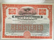 CHINA SHANGHAI POWER COMPANY 1934 $1,000 SILVER DOLLAR BOND UNCANCELLED