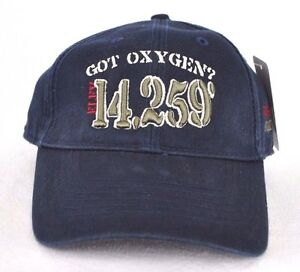 ee64db975 Details about *LONGS PEAK COLORADO - GOT OXYGEN?* Ball cap hat *OURAY  SPORTSWEAR* embroidered