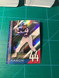 2020 TOPPS CHROME UPDATE HANK AARON A NUMBERS GAME #NGC-25 BRAVES