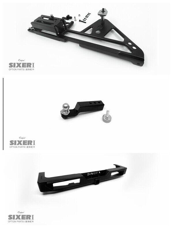 Rear bumper + spare wheel mount + trailer hook for CAPO SIXER 1 Suzuki Samurai