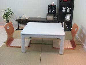 Kotatsu Table Square 6075cm Foot Warmer Heated Table Folding Leg