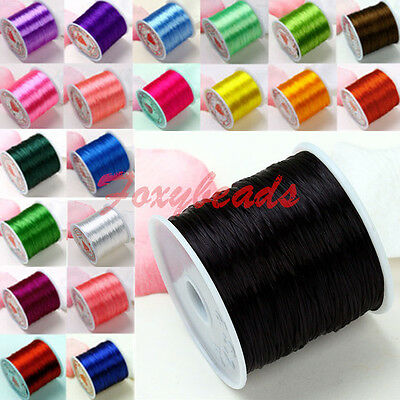 80 Yard Elastic Crystal String Cord Thread for Jewelry Beads DIY Making Colors