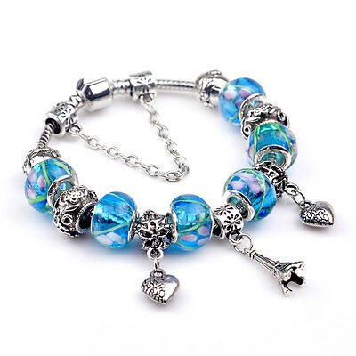 Abby Jewelry 925 Sterling Silver Tropical Sunset Mixed Enamel /& Cz European Bead For Woman European Charm Bracelet DIY Jewelry Making