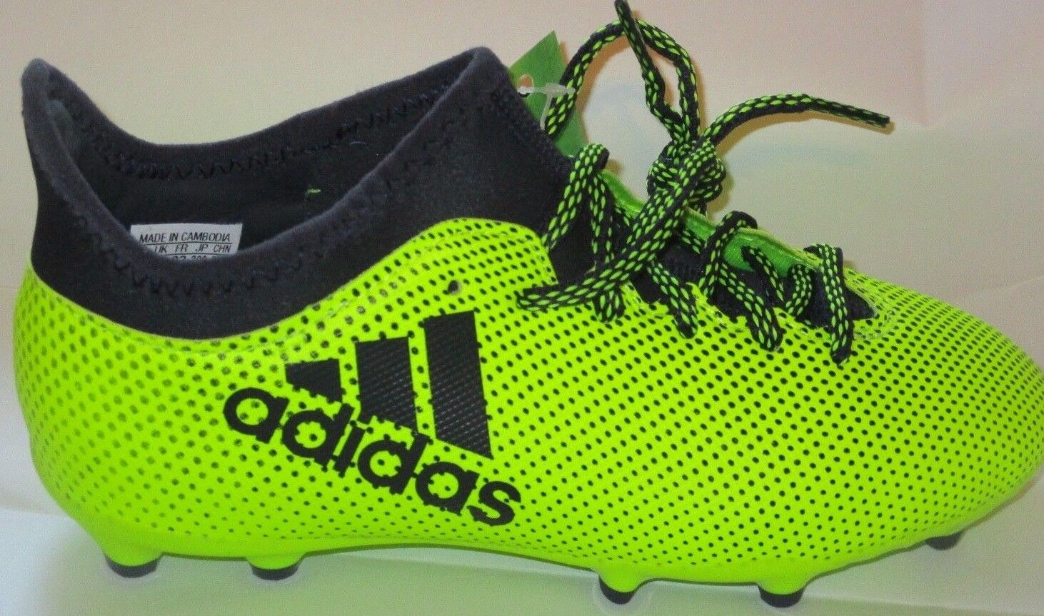 BOY'S ADIDAS X TANGO 17.3 FG SOCCER SHOES CLEATS S82369 SIZE 1.5Y